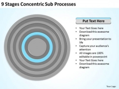 9 Stages Concentric Sub Processes Business Plan Structure PowerPoint Slides
