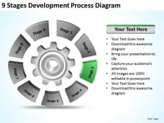 9 Stages Development Process Diagram Business Plan For PowerPoint Slides