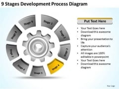 9 Stages Development Process Diagram Clothing Business Plan PowerPoint Templates