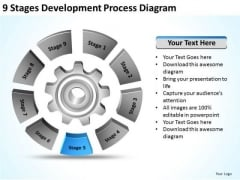 9 Stages Development Process Diagram It Business Plan PowerPoint Slides