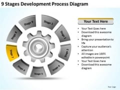 9 Stages Development Process Diagram Ppt Business Plan PowerPoint Slide