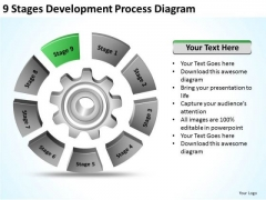 9 Stages Development Process Diagram Ppt Tutoring Business Plan PowerPoint Slides