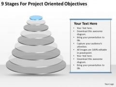 9 Stages For Project Oriented Objectives Ppt Example Business Plan PowerPoint Templates