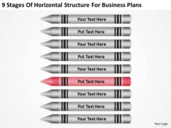 9 Stages Of Horizontal Structure For Business Plans Ppt Busness PowerPoint Templates
