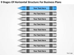 9 Stages Of Horizontal Structure For Business Plans Ppt Subway PowerPoint Slides