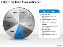 9 Stages Pie Chart Process Diagram Ppt Business Development Plan PowerPoint Slides