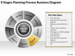9 Stages Planning Process Business Diagram Strategic Plans PowerPoint Templates