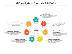 ABC Analysis To Calculate Total Value Ppt PowerPoint Presentation Infographics Themes PDF