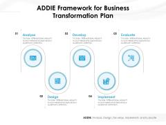 ADDIE Framework For Business Transformation Plan Ppt PowerPoint Presentation File Layouts PDF