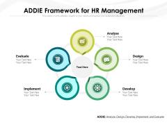 ADDIE Framework For HR Management Ppt PowerPoint Presentation Gallery Format PDF