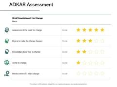 ADKAR Assessment Reinforcement Ppt PowerPoint Presentation Model Gallery