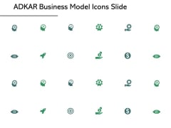 ADKAR Business Model Icons Slide Vision Gear Ppt PowerPoint Presentation Model Graphics Tutorials