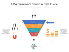 AIDA Framework Shown In Data Funnel Ppt PowerPoint Presentation Gallery Show PDF