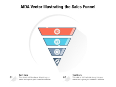 AIDA Vector Illustrating The Sales Funnel Ppt PowerPoint Presentation File Sample PDF