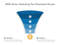 AIDA Vector Illustrating Two Downward Arrows Ppt PowerPoint Presentation File Ideas PDF