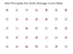 AIM Principles For Data Storage Icons Slide Ppt Gallery Graphics Example PDF