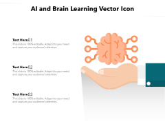 AI And Brain Learning Vector Icon Ppt PowerPoint Presentation Gallery Templates PDF