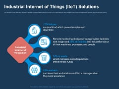 AI Based Automation Technologies For Business Industrial Internet Of Things Iiot Solutions Diagrams PDF