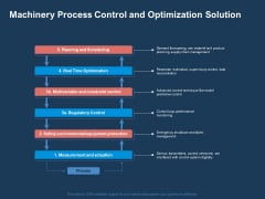 AI Based Automation Technologies For Business Machinery Process Control And Optimization Solution Inspiration PDF