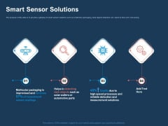 AI Based Automation Technologies For Business Smart Sensor Solutions Ppt Pictures Graphics Example PDF