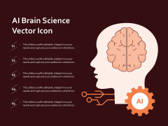 AI Brain Science Vector Icon Ppt PowerPoint Presentation Layouts Graphics Pictures PDF