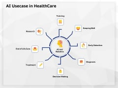AI High Tech PowerPoint Templates AI Usecase In Healthcare Ppt Professional Background PDF