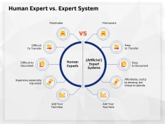 AI High Tech PowerPoint Templates Human Expert Vs Expert System Elements PDF
