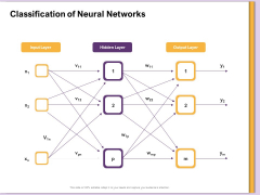 AI Machine Learning Presentations Classification Of Neural Networks Ppt Ideas Deck PDF
