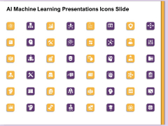 AI Machine Learning Presentations Icons Slide Ppt Portfolio Design Templates PDF