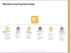 AI Machine Learning Presentations Machine Learning Use Cases Ppt Ideas Microsoft PDF