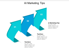 AI Marketing Tips Ppt PowerPoint Presentation Visual Aids Example File Cpb
