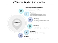 API Authentication Authorization Ppt PowerPoint Presentation Summary Demonstration Cpb