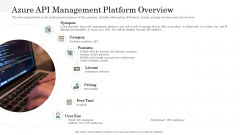 API Management Market Azure API Management Platform Overview Summary PDF