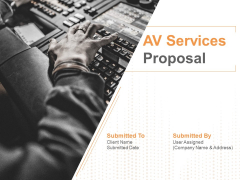 AV Services Proposal Ppt PowerPoint Presentation Complete Deck With Slides