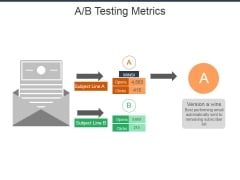 A B Testing Metrics Ppt Powerpoint Presentation Professional Format