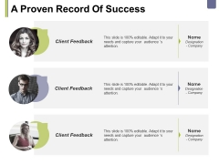 A Proven Record Of Success Ppt PowerPoint Presentation Professional Icon