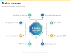 A Step By Step Guide To Continuous Deployment Docker Use Cases Graphics PDF