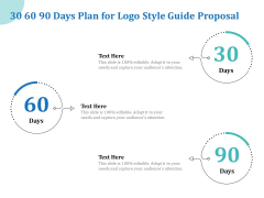 A Step By Step Guide To Creating Brand Guidelines 30 60 90 Days Plan For Logo Style Guide Proposal Summary PDF