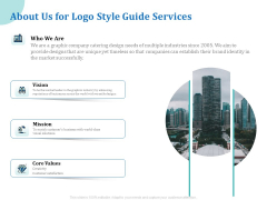 A Step By Step Guide To Creating Brand Guidelines About Us For Logo Style Guide Services Guidelines PDF