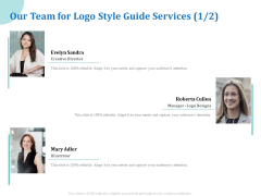 A Step By Step Guide To Creating Brand Guidelines Our Team For Logo Style Guide Services Creative Pictures PDF