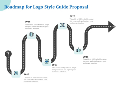 A Step By Step Guide To Creating Brand Guidelines Roadmap For Logo Style Guide Proposal Pictures PDF