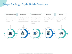 A Step By Step Guide To Creating Brand Guidelines Scope For Logo Style Guide Services Microsoft PDF