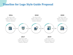 A Step By Step Guide To Creating Brand Guidelines Timeline For Logo Style Guide Proposal Themes PDF