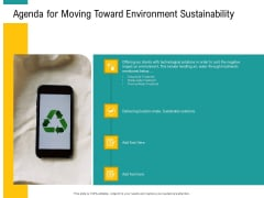 A Step Towards Environmental Preservation Agenda For Moving Toward Environment Sustainability Clipart PDF