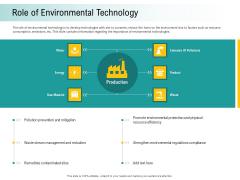A Step Towards Environmental Preservation Role Of Environmental Technology Brochure PDF