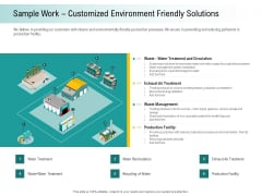 A Step Towards Environmental Preservation Sample Work Customized Environment Friendly Solutions Clipart PDF