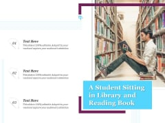 A Student Sitting In Library And Reading Book Ppt PowerPoint Presentation Layouts Designs Download PDF