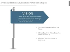A Vision Statement Development Powerpoint Shapes