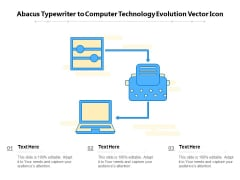 Abacus Typewriter To Computer Technology Evolution Vector Icon Ppt PowerPoint Presentation Inspiration Microsoft PDF