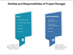 Abilities And Responsibilities Of Project Manager Ppt PowerPoint Presentation Professional Outline PDF